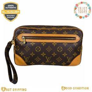 Louis Vuitton clutch bag marly dragone GM monogram